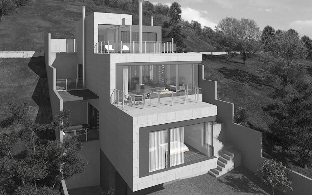 Vivienda en domaio moa a 2c arquitectos estudio de - Arquitectos en santiago de compostela ...