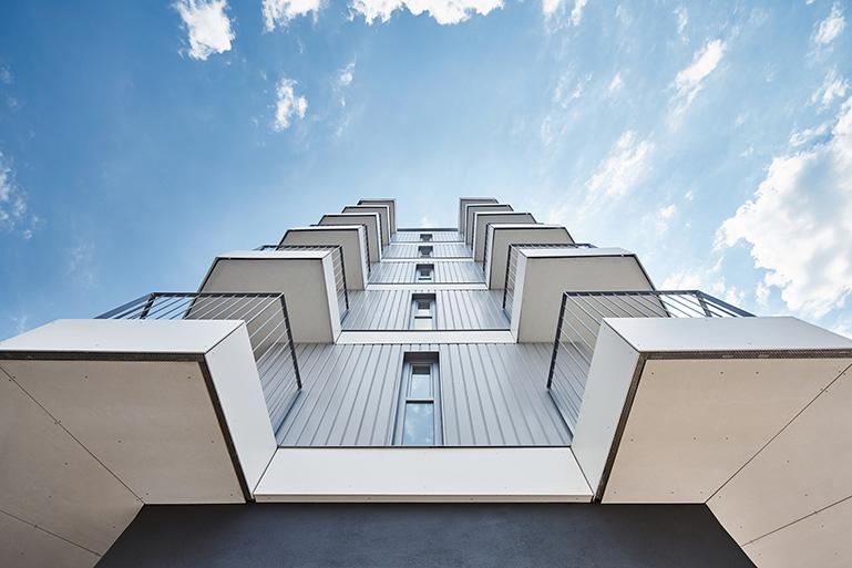 Edificio de viviendas en Pontevedra / Foto: Alberto Bandín